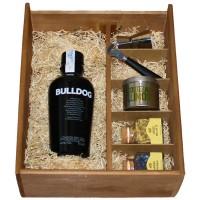 Kit Bulldog Gin con utensilios y botánicos