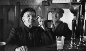 Two men drinking at a Dublin bar